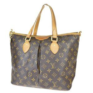 LOUIS VUITTON Palermo PM Hand Bag Monogram Leather